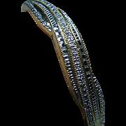 Genuine Diamond Bangle Bracelet Franklin Mint