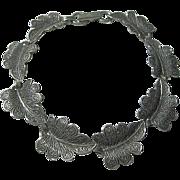 925 Sterling Signed Beau Vintage Leaf Bracelet