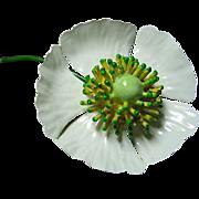Vintage Enamel Flower Brooch/Pin Signed Original by Robert