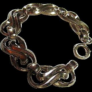 Pretty Gold Filled 12kt Fluid Vintage Bracelet