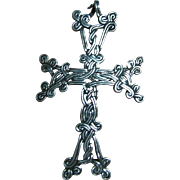 Sterling 925 Silver Fine Intricate Celtic Knot Cross Pendant/Necklace