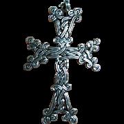 Sterling 925 Silver Fine Intricate Celtic Knot Cross Pendant/Necklace
