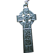 Vintage Exquisite Fine Sterling 925 Silver Celtic Cross Pendant/Necklace