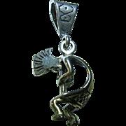 Native American Vintage Kokopelli Sterling Silver 925 Pendant