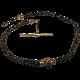 Genuine Victorian Hair Watch Chain