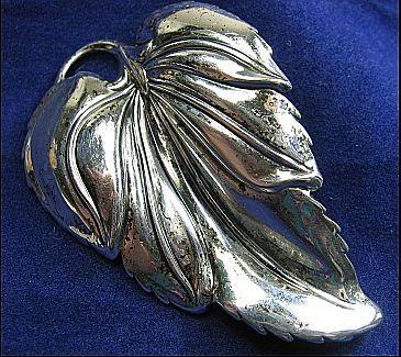 Vintage Signed Danecraft Sterling Silver 925 Leaf Brooch/Pin