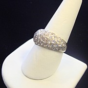 Exquisite 3-Carat Pave Diamond Ring