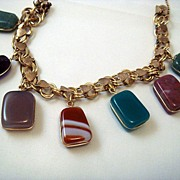 1950's Stone Varietal Bracelet - Jasper, Jade, and More