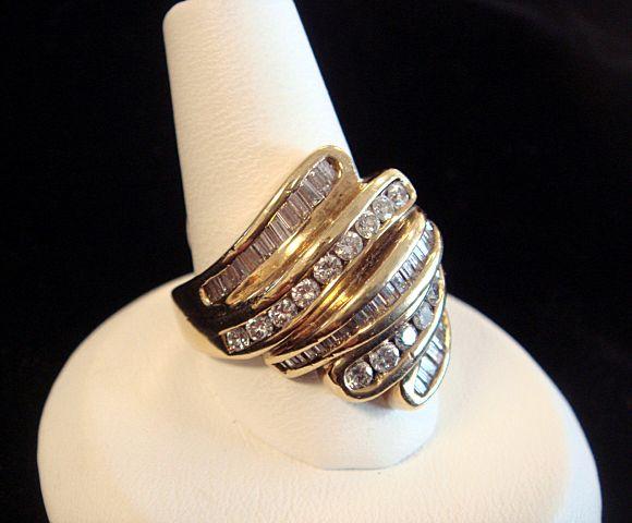 Luscious Diamond Cocktail Ring, 18K Gold