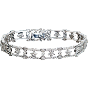 Hearts and Stars of Diamonds in 18K Gold Bracelet