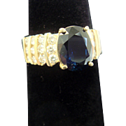 Three Carat Sapphire Engagement Ring, c1985