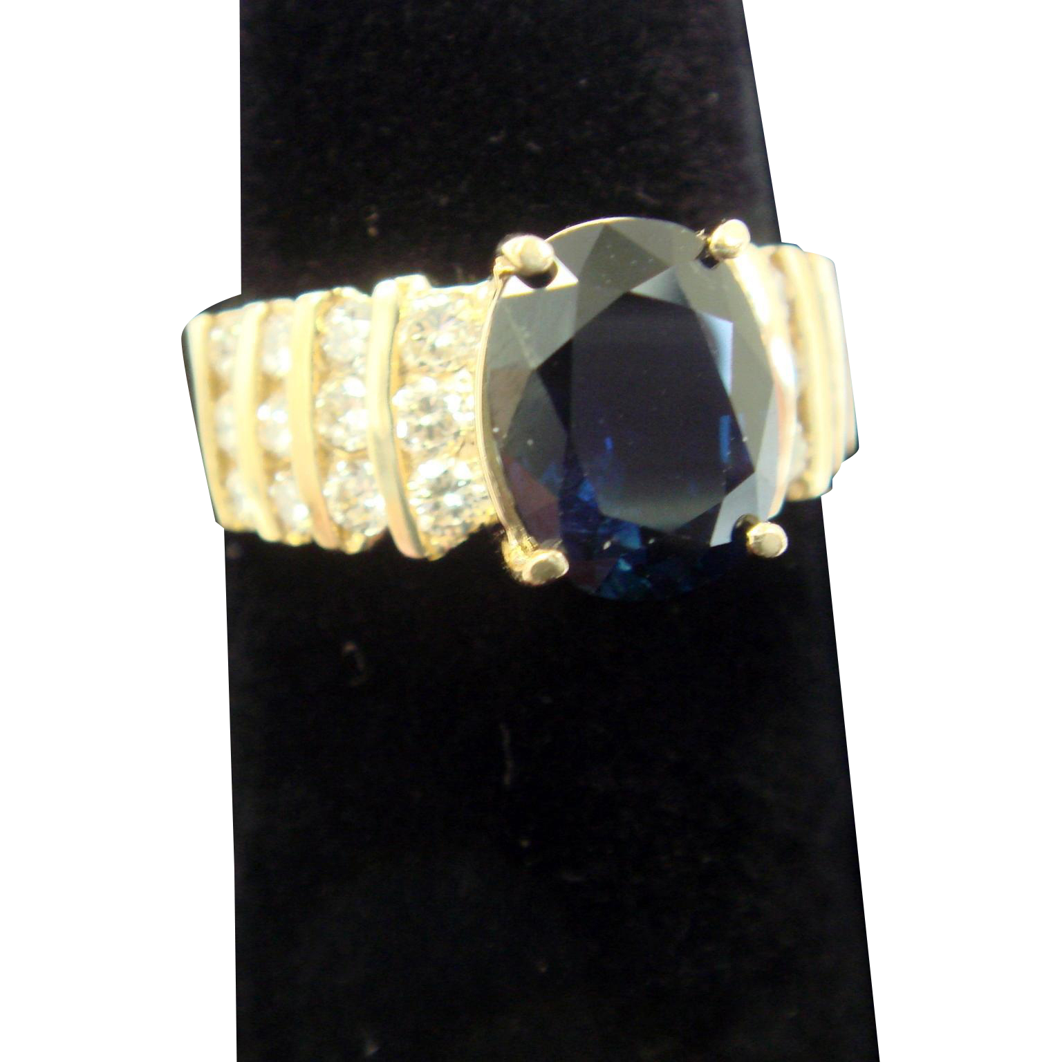Three Carat Sapphire Engagement Ring, c1985