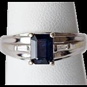 Nice Dark Sapphire Ring in 14K