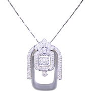 Fabulous Art Deco Style Pendant with 1.50 Carats of Diamonds
