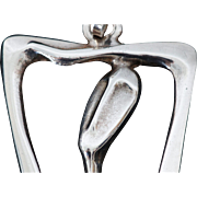 Modernist Sterling Woman Pendant by Burkee