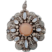 Moonstone and Sterling Silver Pendant