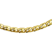 Tiffany & Co. Heavy Curb Cut 18K Gold Chain, 20""