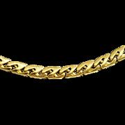 """Tiffany & Co. Heavy Curb Cut 18K Gold Chain, 20"""""""