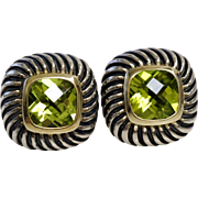 Retired David Yurman Albion Peridot Earrings
