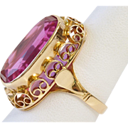 HUGE Russian Ruby in Gorgeous 14K Gold Setting