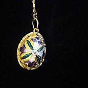 """Eggstravaganza"" Pendant and 14K Gold Chain, c1990"