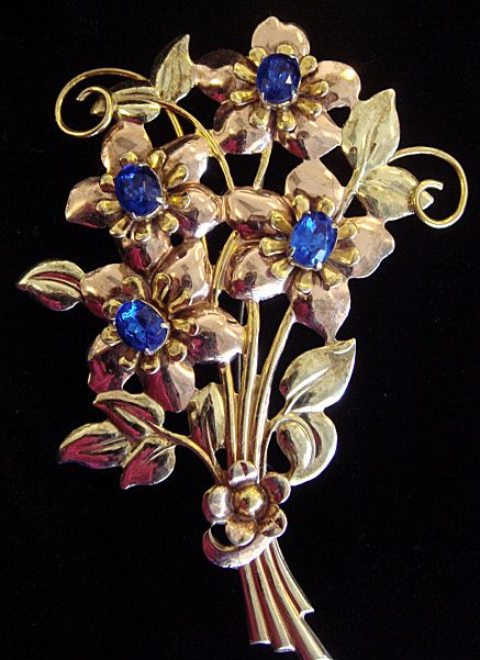 Big Happy Floral Brooch, c1945