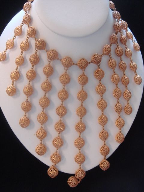 Wow! Gold Toned Bling from the 1950's!