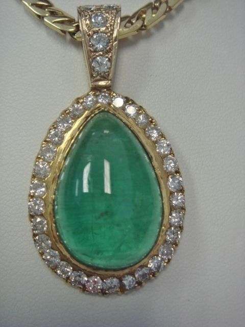 Stunning, Regal, Emerald and Diamond Pendant