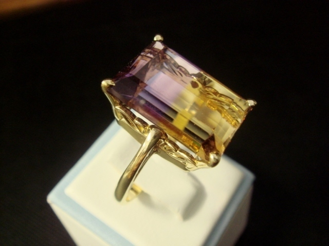 Lovely Ametrine Ring in 14K Yellow Gold
