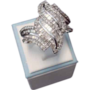Magnificent 1960's Diamond Dinner Ring in 14K Gold