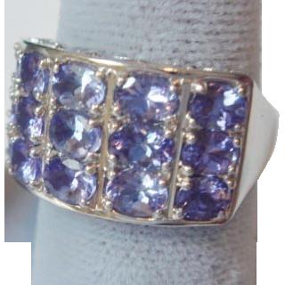 Sweet 3-Carat Tanzanite Ring, 14K White Gold