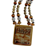 """""""Picasso"""" Marble Necklace by Neva Burba"""