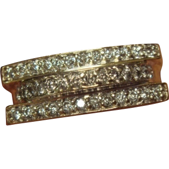 Hearts & Diamonds Two-Toned 14K Band