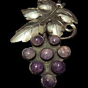Beautiful Amethyst Grapes Brooch