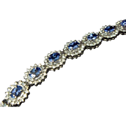 Exquisite 11 Carat Tanzanite and Diamond Bracelet, Platinum