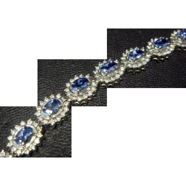 Exquisite 11 Carat Tanzanite and Diamond Bracelet, Platinum