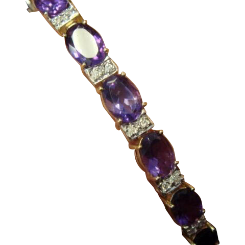 Wow! Amethyst and Diamond Bracelet, 13+ Carats