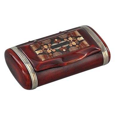 Gorgeous Agate Inlay Rosewood Box, Early 19th Century