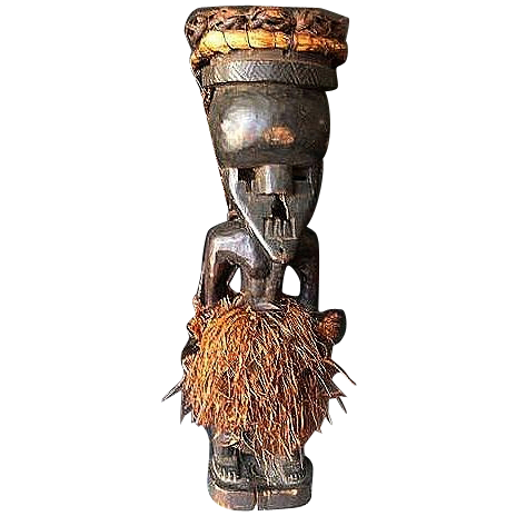 Salampasu, Rare Mukinka Figure with Mask - Shaba/Zaire,  early 20th Century