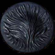 """Lalique -  Black Algues 11"""" Plate - Vintage"""
