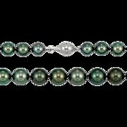 Fine Cultured Tahitian Pearls - Diamond Set Gold Clasp