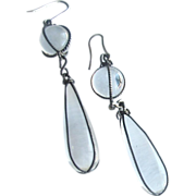 Victorian Rock Crystal Pendeloque Pools of Light Earrings