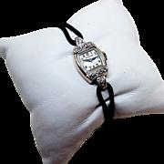 Hamilton Diamond Wristwatch - Mid Century - 14K Gold