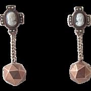 Antique Cameo Earrings - 14K