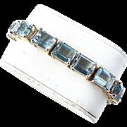 Fine 70 Carat Aquamarine Bracelet - Art Deco, 18K