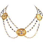 Very Rare 18th Century Colliere d'Esclavage Necklace