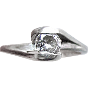 Diamond Solitaire Engagement Ring - 14K