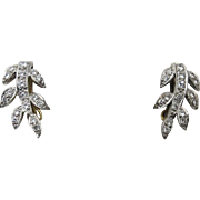 18 Ct Diamond Earrings - Art Deco