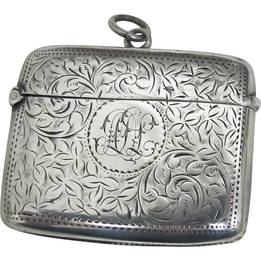 19th Century English Vesta Case - Sterling