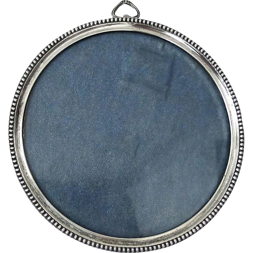 Sterling Silver Picture Frame, Round Classic and Elegant